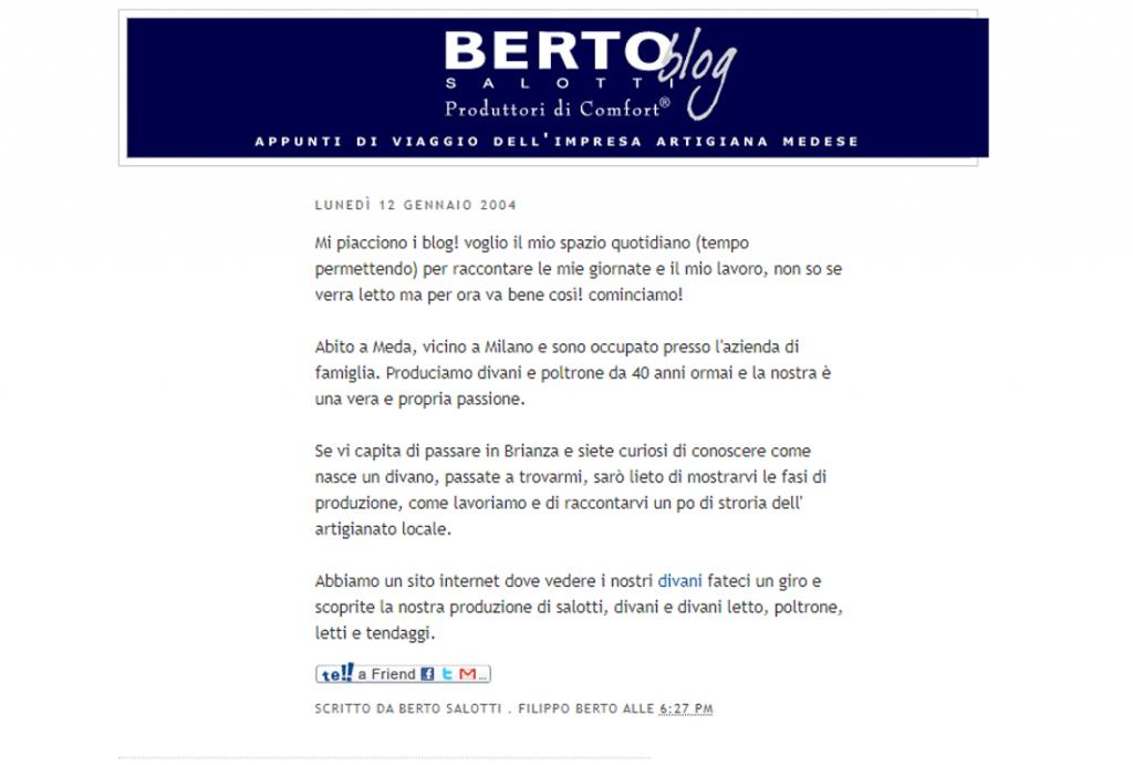 Berto博客的第一个博客,Berto Salotti 2004年的博客