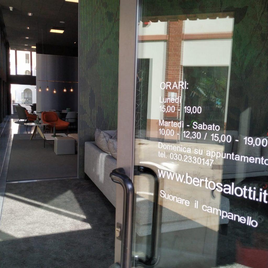 BertO Salotti Brescia 陈列室入口