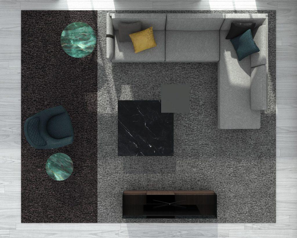 BertO的Dee Dee现代沙发,配以BertO 2021系列的配件