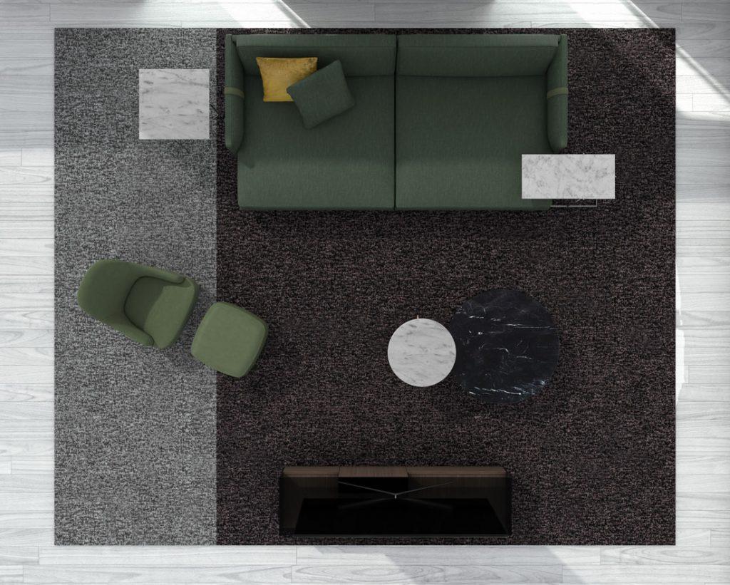 BertO的Dee Dee深沙发,带有来自BertO 2021系列的配件